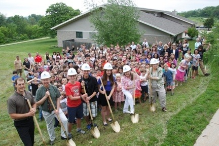 EAGLE School breaks ground  for a 21,000 sq. ft. addition to their current building.