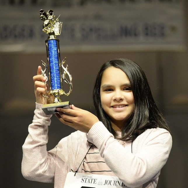 EAGLE's Maya Jadhav Wins the Badger State Spelling Bee for the 2nd Year in a Row